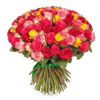 101 эквадорская роза-микс