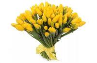 """Букет из 101 желтого тюльпана """"Солнечный сюрприз"""""""