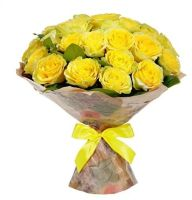 "25 желтых роз ""Золото флоры"""