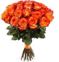 """Желто-оранжевые розы """"Сердце Данко"""""""