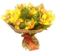 """Букет желтых орхидей """"Тропиканка"""""""