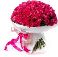 """Букет из 101 розовой розы """"Волны памяти"""""""