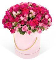 """Розы в шляпной коробке """"Ассоль"""""""