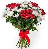 Современные букет хризантем и герберами, заказать цветы из хф фото