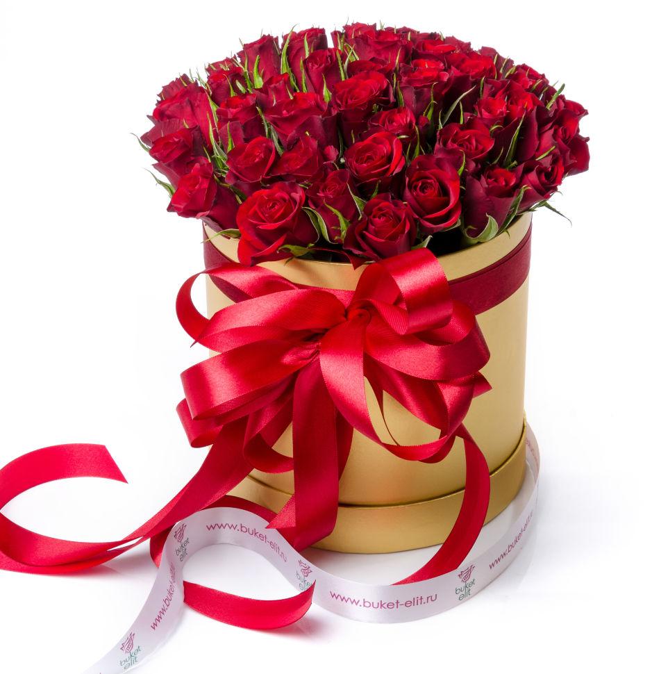 Купить розы в коробке недорого